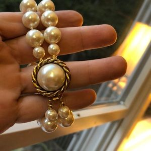 Carolee double strand large pearl bracelet EUC FUN